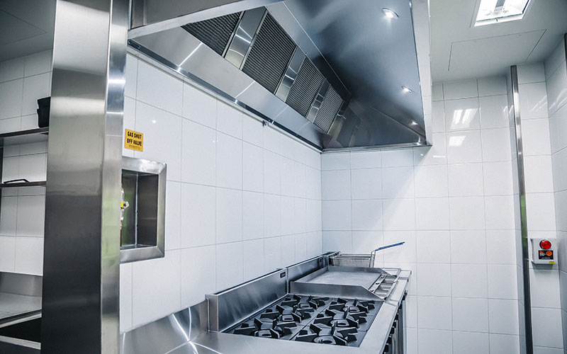 commercial kitchen canopy installation